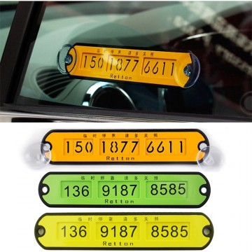 Suport numar telefon parcare temporara