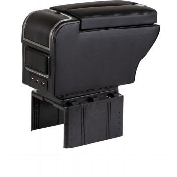 Cotiera auto multifunctionala cu porturi USB