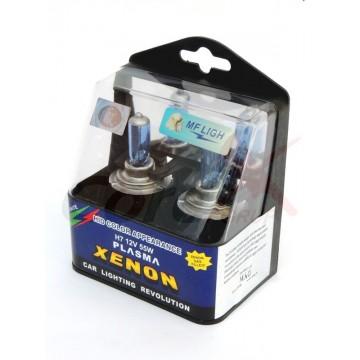 Bec auto albastru H7 12V 100W