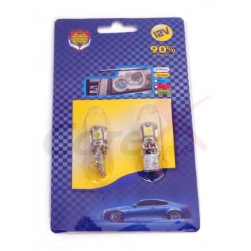 Bec led T10 5 SMD Canbus