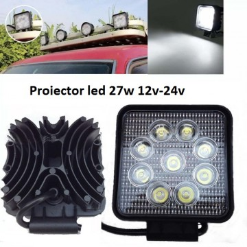 Proiector LED 27W patrat