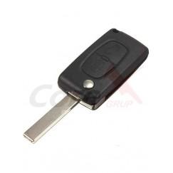 Carcasa cheie Peugeot 2 butoane cu lamela flip