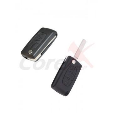 Carcasa cheie Peugeot 3 butoane cu lamela flip