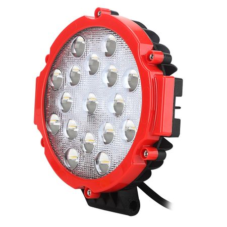 Proiector LED auto off road 51W 12V/24V rosu
