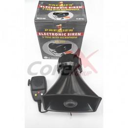 Sirena electronica cu 3 tonuri si microfon ES360BK