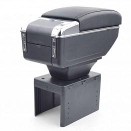 Cotiera Auto Neagra Cu Usb pentru incarcare Telefon si Suport Pahar