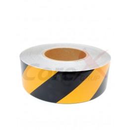 Banda reflectorizanta adeziva galben cu negru